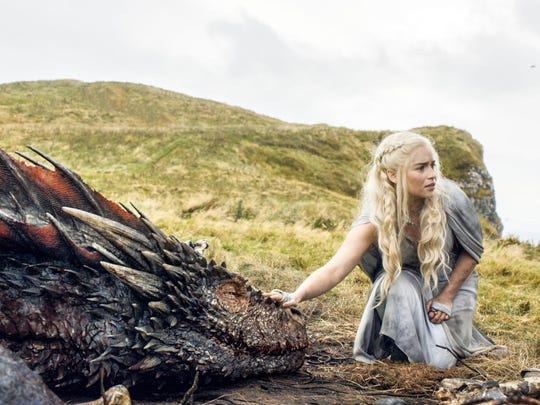 """Emilia Clarke appears in a scene from HBO's """"Game of Thrones."""""""