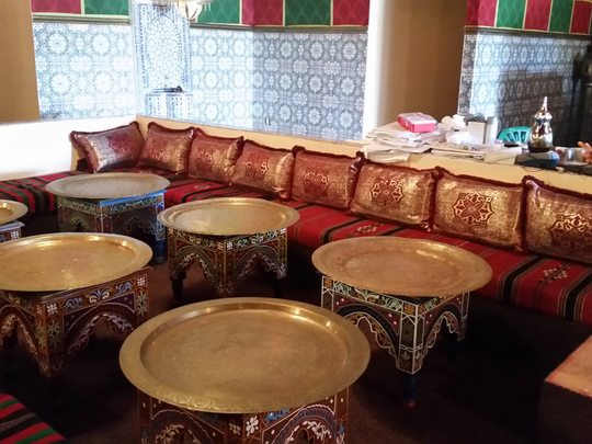 The new interior of Casablanca restaurant in New Castle. The owner of the Moroccan eatery, which closed in 2012 after two fires, is planning to reopen in early October.