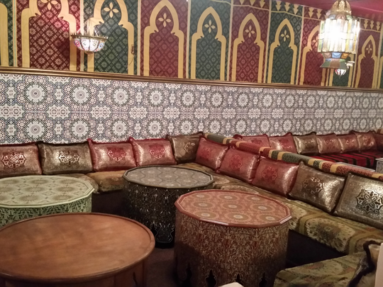Riyah Al-Baroki says the new decor at his Casablanca restaurant has more Moroccan tiles. He's hoping to reopen the New Castle eatery in early October.