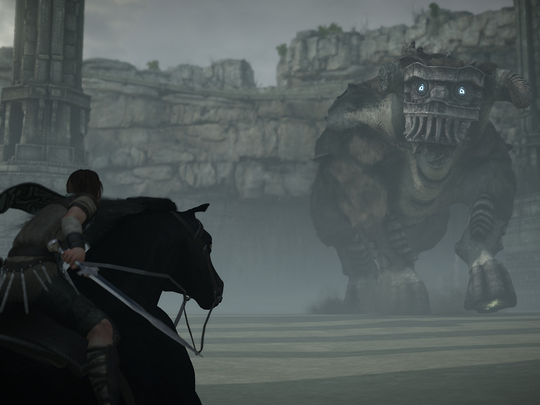 "In ""Shadow of the Colossus,"" taking down each Colossi requires players to take advantage of their environment and equipment."