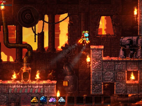 "Mine for resources and uncover the secrets behind mysterious tremors in ""SteamWorld Dig 2."""