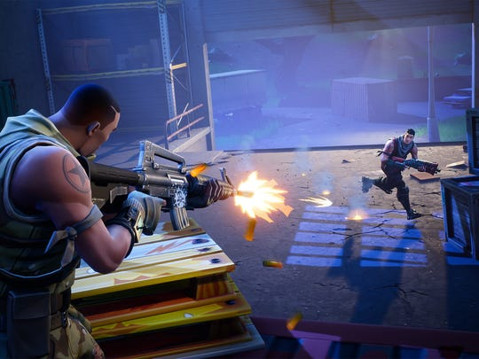 Still image of gameplay from Epic Games' Fortnite.