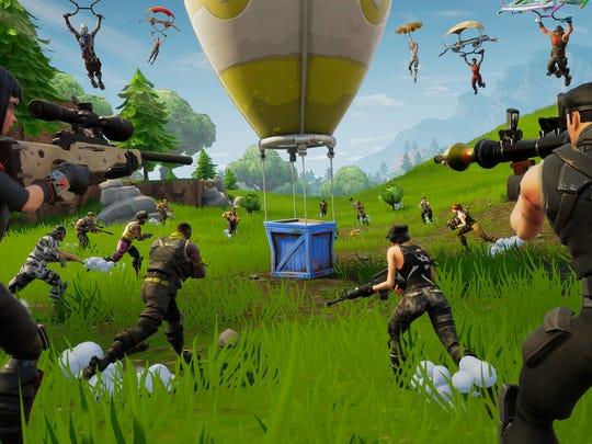 A screenshot from  Fortnite .