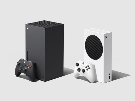The new Xbox Series X and S gaming consoles.