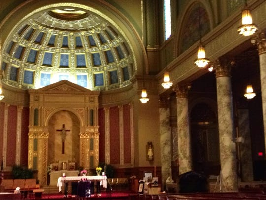 Interior view of Nativity of Our Lord Catholic Church on Detroit's east side. The Detroit Mass Mob will visit on Dec. 7, 2014, for 10 a.m. mass.