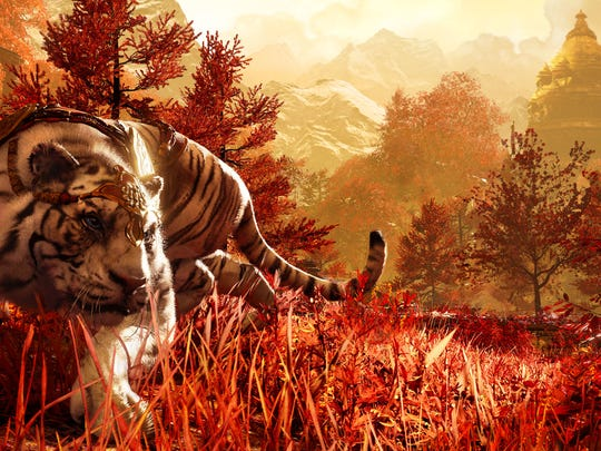 "Players can work alongside a legendary white tiger in the Shangri-La portion of ""Far Cry 4."" It's one of the more memorable and beautiful places in the game."
