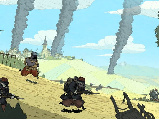 """""""Valiant Hearts: The Great War,"""" a digital release, has a hand-drawn style."""