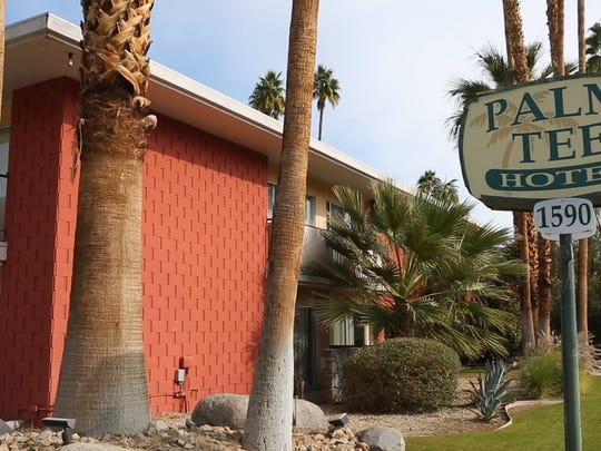 The Palm Tee Hotel currently operates as a sober living home in Palm Springs.