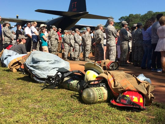 FILE: Hurlburt Field firefighter packs at Air Commando