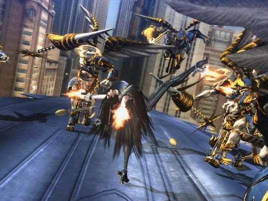 "Cereza the Umbra witch returns in high-octane action game ""Bayonetta 2"" for the Nintendo Wii U."