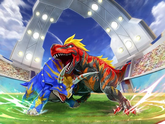 """Excavate fossils and battle with colorful dinosaurs in """"Fossil Fighters: Frontier"""" for the Nintendo 3DS."""