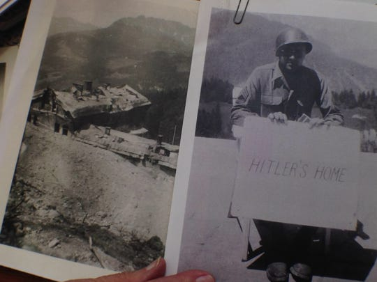 Pictures of John Regnier, 92, who spent a day after the war in Berchtesgaden, Austria at Adolf Hitler's mountain retreat.