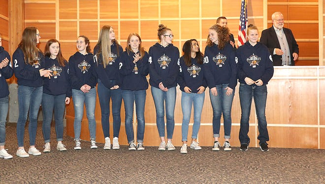 The Gig Harbor High School girls basketball team's accomplishments were duly noted during a special portion of the City Council meeting on March 13, with players being individually recognized by the council.