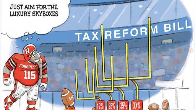 High pressure kick for tax reform