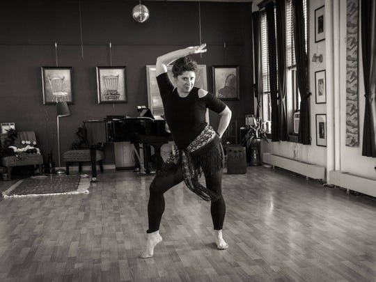 Lucille Guinta-Bates rehearses for a show at Studio Jeff in St. Cloud in November. She rediscovered her love for dance at the age of 49, 25 years after she last danced.