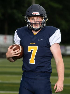 Saegertown High School's Jake Reisinger, RB/SS, is shown at Meadville High School on July 7, 2020.