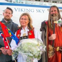 Fast-growing Viking Cruises christens third ocean ship