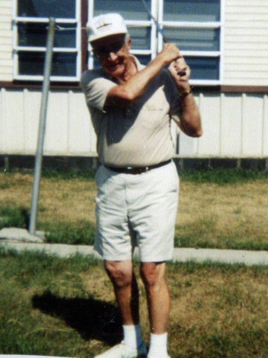 Charles Wise strikes a pose at Blue Mt. View Golf Course near Fredericksburg in 1999 after hitting a hole-in-one. Submitted