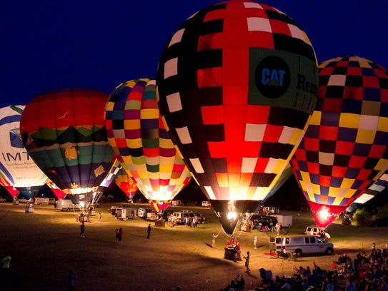 The Michigan Challenge Balloonfest glow, shown here