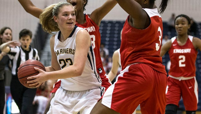 Toms River North's Jenna Paul. NJSIAA South Group IV semifinal basketball game featuring Toms River North and Kingsway. Toms River, NJFriday, March 3, 2017.@dhoodhood