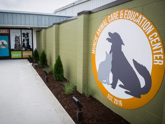 Muncie Animal Shelter new sign
