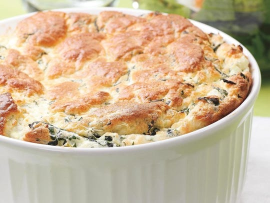 Spinach and Feta Souffle