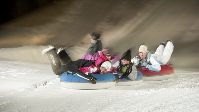 Snow tube races are one of the many winter-themed events this weekend at Funski.