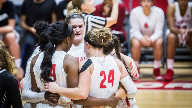 The Ball State women's basketball team, shown here against Butler earlier this season, is 10-0.