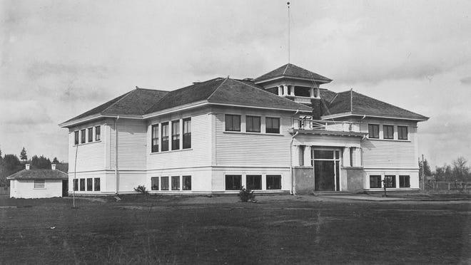 West Salem Elementary School is seen 1912. Historic West Salem School was in the heart of the Edgewater District, between Elm and Third streets near the Kingwood Bible Church.