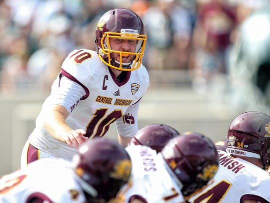 Central Michigan Chippewas quarterback Cooper Rush is poised to shatter several school records this season. He currently ranks second in career touchdown passes (67), and third in career passing yards (9,354), passes completed (744) and passing attempts (1,183).
