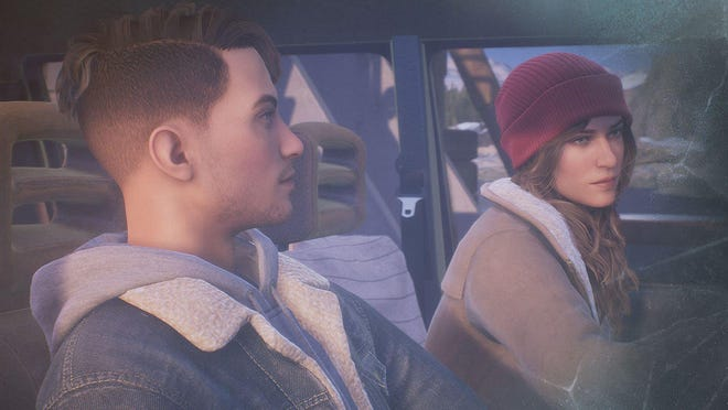 "Tyler, left, and Alyson in the ""Tell Me Why"" video game."