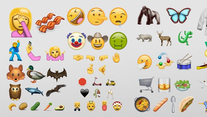 """Emojis created """"app-style"""" which is glossy and uses a mixture of photo realistic and cartoon images."""