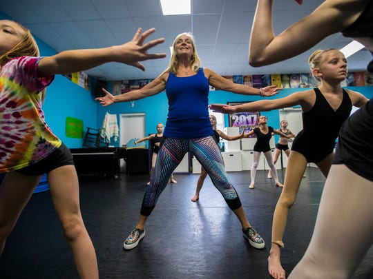 Robin Dawn conducts a junior jazz class at her academy