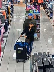 Marathon County Crime Stoppers is asking for your help to identify the male and female who stole a wallet from a purse in the township of Rib Mountain, and made several fraudulent purchases that same day.