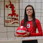 Seneca High School senior Bailey Boswell plays volleyball and wants to be a nurse.