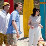"Brett Davern (from left) as Carl Wilson, Jake Abel as Mike Love, Paul Dano as Brian Wilson and Erin Darke as Marilyn Wilson are seen in ""Love & Mercy."""