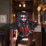 """This photo provided by Disney shows Paul Rudd as Scott Lang/Ant-Man in a scene from Marvel's """"Ant-Man."""""""