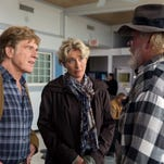 """Robert Redford, from left, as Bill Bryson, Emma Thompson as Cynthia Bryson and Nick Nolte as Stephen Katz in the film, """"A Walk in the Woods."""""""