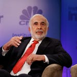 CNBC's Scott Wapner moderates the Alpha Debate: Activism panel with Carl Icahn, Chairman, Icahn Enterprises at the 5th annual CNBC Institutional Investor Delivering Alpha Conference on Wednesday, July 15, 2015 at the Pierre Hotel in New York
