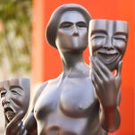 The Screen Actors Guild Awards actor statue for the 22nd Annual Screen Actors Guild Awards on display at the TCL Chinese Theatre on Tuesday, Jan 26, 2016, in Los Angeles. (Photo by Rich Fury/Invision/AP)