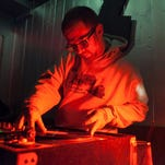 Detroit-based DJ Brad Hales spun a mix of soul and funk during his sets at UFO Factory in Detroit on Friday, Jan. 29, 2016.
