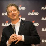 Rand Paul makes a campaign stop at Nationwide in Des Moines, Monday, Feb. 1, 2016.