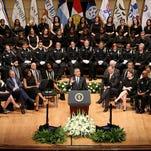 President Obama in Dallas on July 12, 2016.