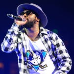 Rapper ScHoolboy Q performs onstage at Power 106 FM's Powerhouse at Honda Center in Anaheim.