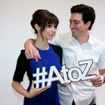 "Cristin Milioti and Ben Feldman star in ""A to Z"" a new NBC show debuting Oct. 2."