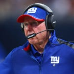 Head coach Tom Coughlin of the Giants looks on from the sideline during the third quarter against the St. Louis Rams at the Edward Jones Dome on December 21, 2014 in St. Louis, Missouri.