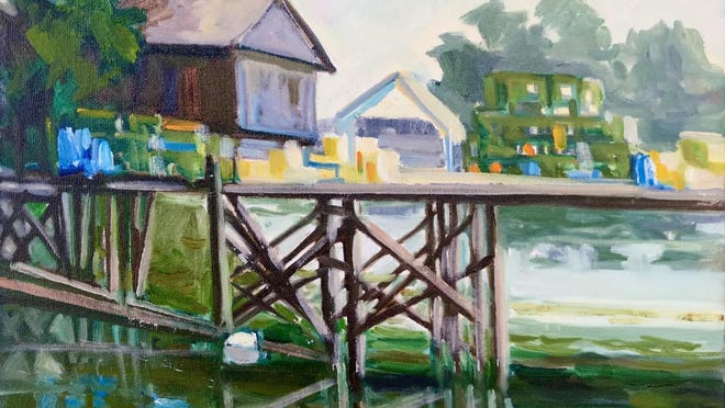 Lennie Mullaney's painting is among artwork available for purchase through the annual Great Bay Plein Air Art Auction going on now online.
