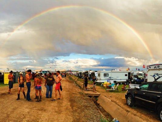 Country Thunder 2016 rainbow