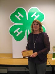 Tracey Kreider, 4-H Friends leader, was awarded the