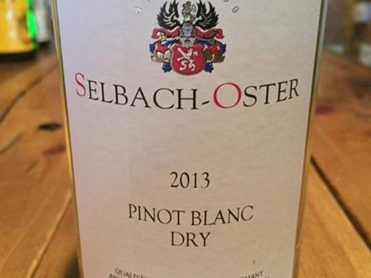 2013 Selbach-Oster dry pinot blanc from Germany.